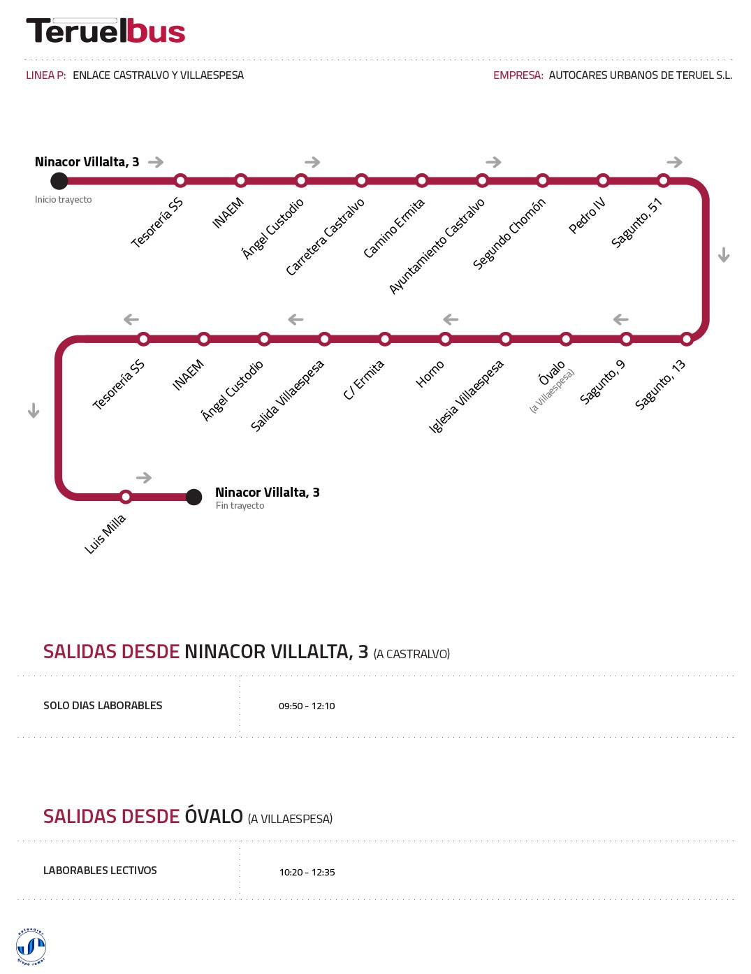 Línea P (Con Castralvo y Villaespesa)